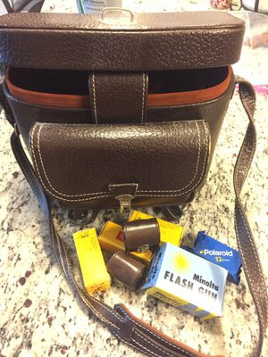 Vintage camera bag with old film and accessories for Sale in Manassas, VA