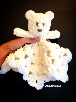 JCroWorld. Baby plush toy crochet blanket lovey. for Sale in Bellevue, WA
