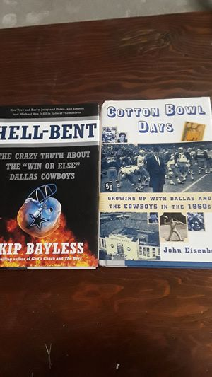 Dallas Cowboy books $5 for Sale in Port Arthur, TX