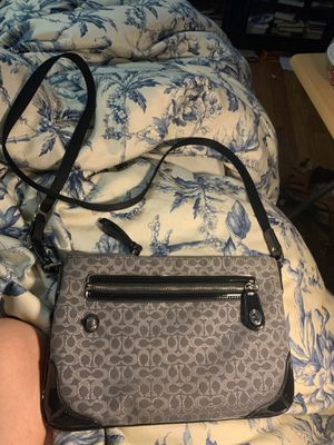 Coach grey and silver purse for Sale in Fresno, CA