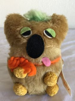 1972 Vintage Russ Berrie Lovey Tan Barney Bean Bag Felt Teddy Bear Plush for Sale in Nellis Air Force Base,  NV