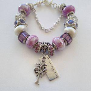 Abuela Family Tree Pandora STYLE Murano Charm Bracelet for Sale in Spring, TX