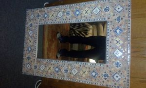 Beautiful tile and wood mirror for Sale in Los Angeles, CA