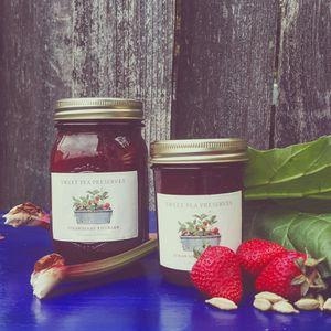 Strawberry rhubarb cardamom jam for Sale in Tacoma, WA