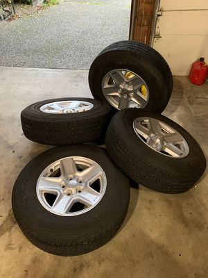 Jeep Wrangler sport wheels and tires for sale LIKE NEW for Sale in Woodinville, WA
