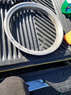2 Chevy Stock rim beauty ring for Sale in Cutler, CA
