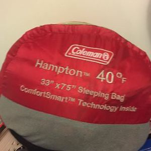 Coleman Hampton sleeping bag 33 x 75 for Sale in Framingham, MA