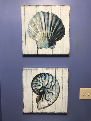 S/2 Seashell Canvas for Sale in Cambria, WI