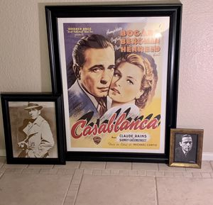 Three Framed Humphrey Bogart Collectibles for Sale in Scottsdale, AZ