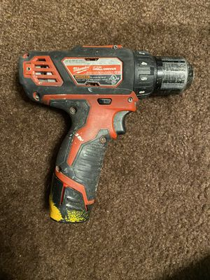 Milwaukee M12 drill with battery for Sale in San Jose, CA