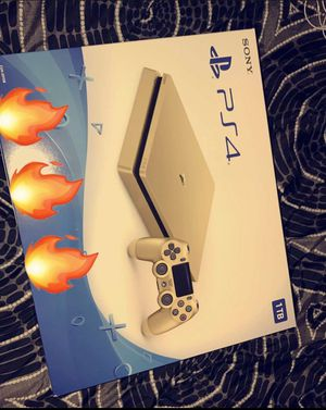 PlayStation 4 Slim 1TB Gold Console with Controller for Sale in Chula Vista, CA