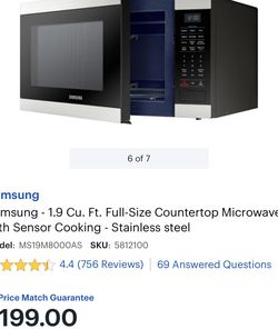 SAMSUNG 1.9 CU. FT. NEW!!! for Sale in Reedley,  CA