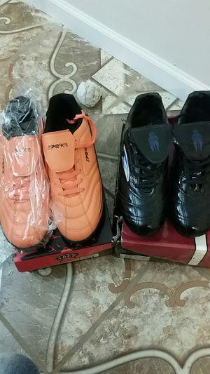 Mens orange or black cleats - new for Sale in Wichita, KS