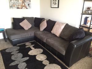 Gray Sofa and Black vinyl/NO PETS for Sale in Scottsdale, AZ