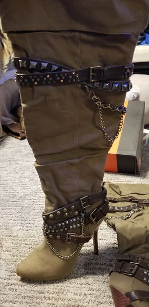 Aldo over the knee canvas boots for Sale in Bristol, PA