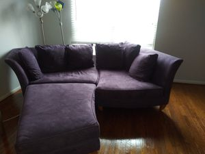 Big purple comfy couch for Sale in Odenton, MD