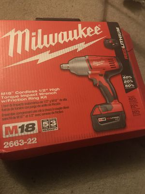 Milwaukee Wrench Ring Kit for Sale in North Little Rock, AR