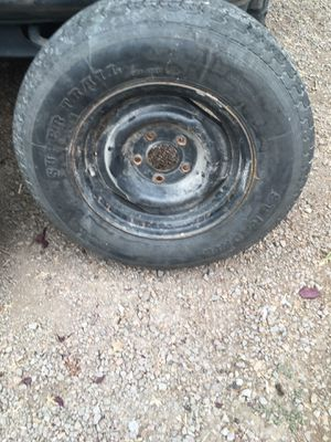 Trailer or boat Trailer spare brand new tread $25 ST205/75/14 the bolt pattern is 5x 4 3/4 for Sale in Vancouver, WA