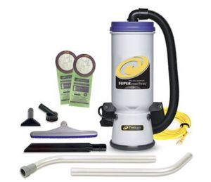 UNOPENED Super CoachVac 10 qt. Backpack Vacuum w/ Xover Multi-Surface Two-Piece Wand Tool Kit for Sale in St. Louis, MO