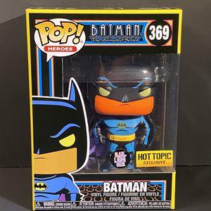 💥 Funko POP! 💥 DC Animated BATMAN #369 BLACK LIGHT Glow Hot Topic Exclusive for Sale in Boca Raton, FL