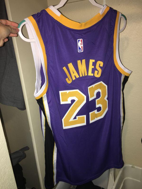 415acfffb9b BRAND NEW W Tags Lebron James Purple Lakers Jersey Adult L and XL ...