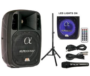 "Alphasonik 8"" Powered 1200W PRO DJ Amplified Loud Speaker Bluetooth USB SD Card AUX MP3 FM Radio PA System LED Ring for Sale in Hawthorne, CA"