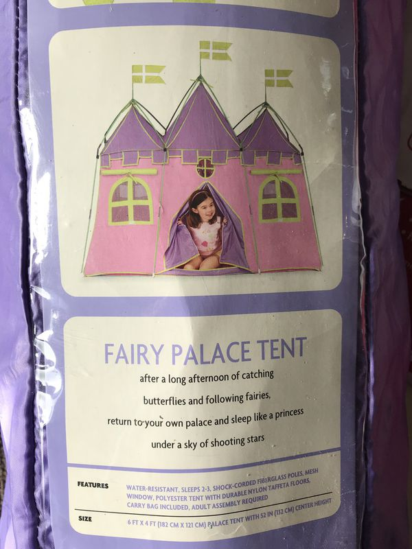 Fairy palace tent camping