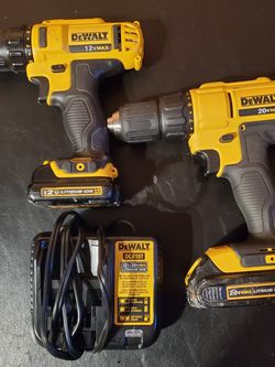 12v And 20v Dewalt Drills Both With Batteries And Charger for Sale in Norwalk,  CA