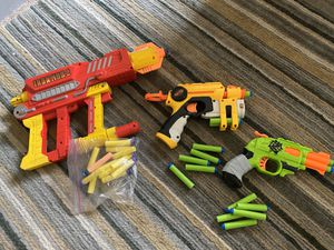 Nerf guns, lot of 3. Iron Man 2 and two others for Sale in Laguna Beach, CA