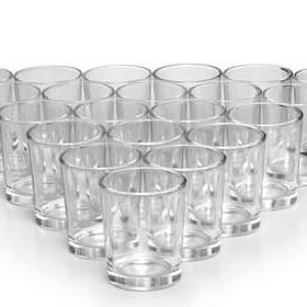 75 Glass Votives And 45 Tea Lights for Sale in Long Beach, NY