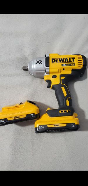Dewalt 20V Max XR Brushless 1/2in High Torque Impact Wrench with 2 new 3ah batteries. ALL NEW. PRICE FIRM for Sale in Plainfield, IN
