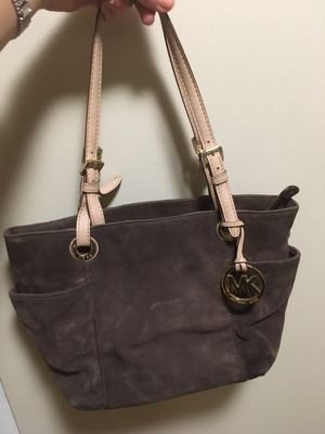 Genuine Michael Kors brown suede purse for Sale in Chicago, IL