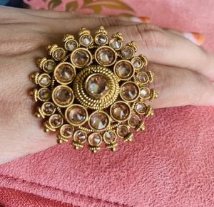 Indian gold plated ring adjustable for Sale in Washington, DC