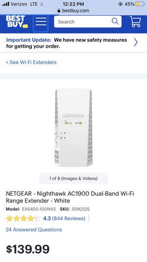 NETGEAR AC 1900 WiFi extender for Sale in Warren Air Force Base, WY