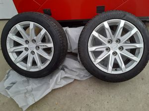 2 Nankane Cadillac Tires & Rims (245/45/R17) for Sale in Englewood, CO