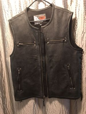 Brand New Leather Motorcycle Vest for Sale in Natick, MA