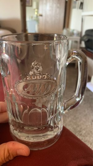 "2000 Millenium A&W Root Beer 6"" Collectible Mug Glass With Rooty Bear Logo On It for Sale in Wyoming, MI"
