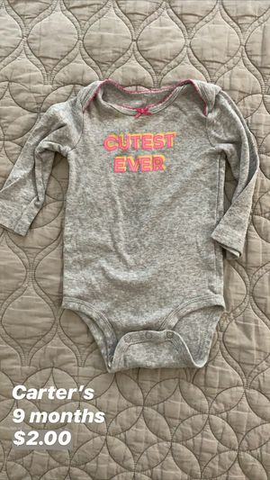Carter's Baby Onesie for Sale in Seattle, WA