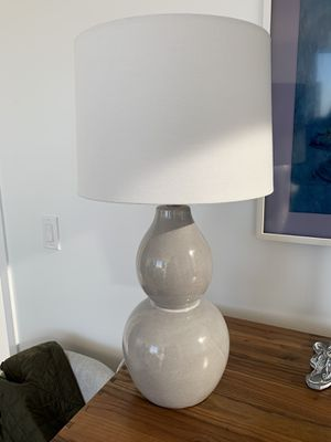 Gray White Table Lamp for Sale in Fort Lee, NJ