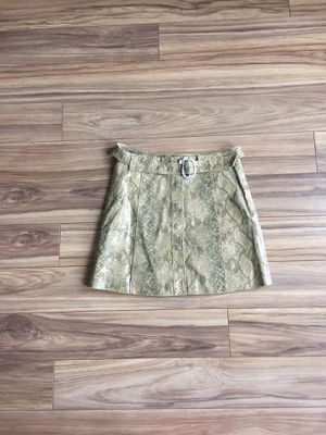 Zara snakeskin print leather mini skirt SIZE S for Sale in Washington, DC