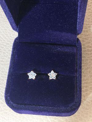 10k blue topaz and diamond earrings for Sale in Nashville, TN
