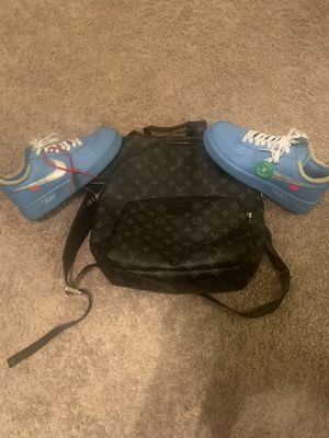 Selling Louis Vuitton Backpack With Blue MCA Off White Air Force 1 Low for Sale in North Las Vegas, NV
