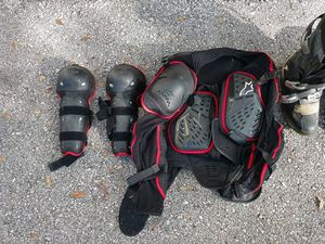 BMX off road motorcycle body armor boots and helmet for Sale in Zephyrhills, FL