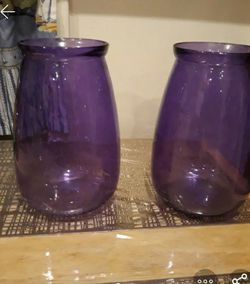 Purple Vases (2) for Sale in Elizabeth,  NJ