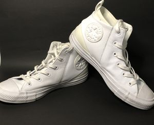 White and beige converse high tops size 8- women's for Sale in Houston, TX