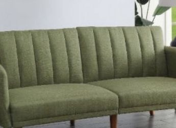 Branielle Green Fabric Sofa Sleeper Cash price or $39 Down / / Financing available no credit need it Miriam's furniture 🪑 719 *E *9th *Street Hiale for Sale in Miami,  FL