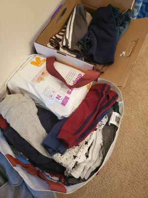 NB boy clothes, diapers, infant insert for Sale in Virginia Beach, VA