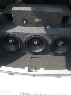 Still new 3 12's good box and 3 amps also all good for Sale in Detroit, MI
