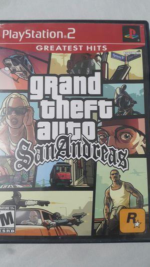 GRAND THEFT AUTO SAN ANDREAS FOR PS2 for Sale in Miami Gardens, FL