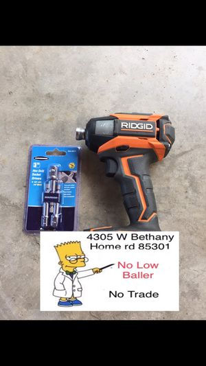 (No Battery No Charger)RIDGID impact 18V X5 Model R86035 (Used) for Sale in Glendale, AZ
